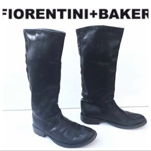 FIORENTINI & BAKER black leather BOOTS 37 7